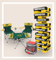 College football games, chairs, and cooler